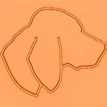 Vizsla fej mintás sütikiszúró