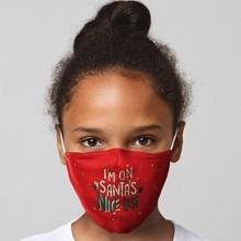 Ünnepi szájmaszk - Piros, gyerek méret