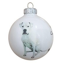 Argentin dog mintás karácsonyi gömb szett
