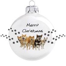 Shiba Inu mintás karácsonyi gömb szett