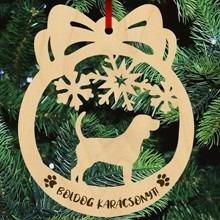 Beagle kutyás fa karácsonyfa dísz