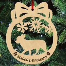 Csivava kutyás fa karácsonyfa dísz