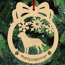 Labrador kutyás fa karácsonyfa dísz