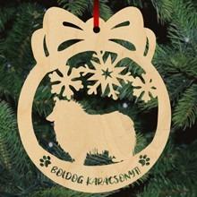 Skót juhászkutyás fa karácsonyfa dísz