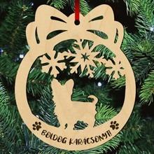Yorkie kutyás fa karácsonyfa dísz