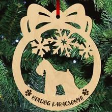 Schnauzer kutyás fa karácsonyfa dísz