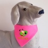 Rózsaszín kutya kendő