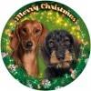 Tacskó kutya mintás világító karácsonyi ablakdísz