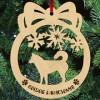 Husky kutyás fa karácsonyfa dísz