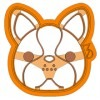 Francia bulldog fej mintás sütikiszúró