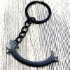 Fekete hosszú tacsis kulcstartó